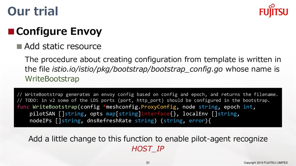 Our trial Configure Envoy  Add static resourc...