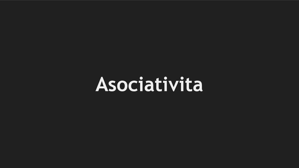 Asociativita