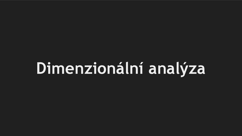 Dimenzionální analýza