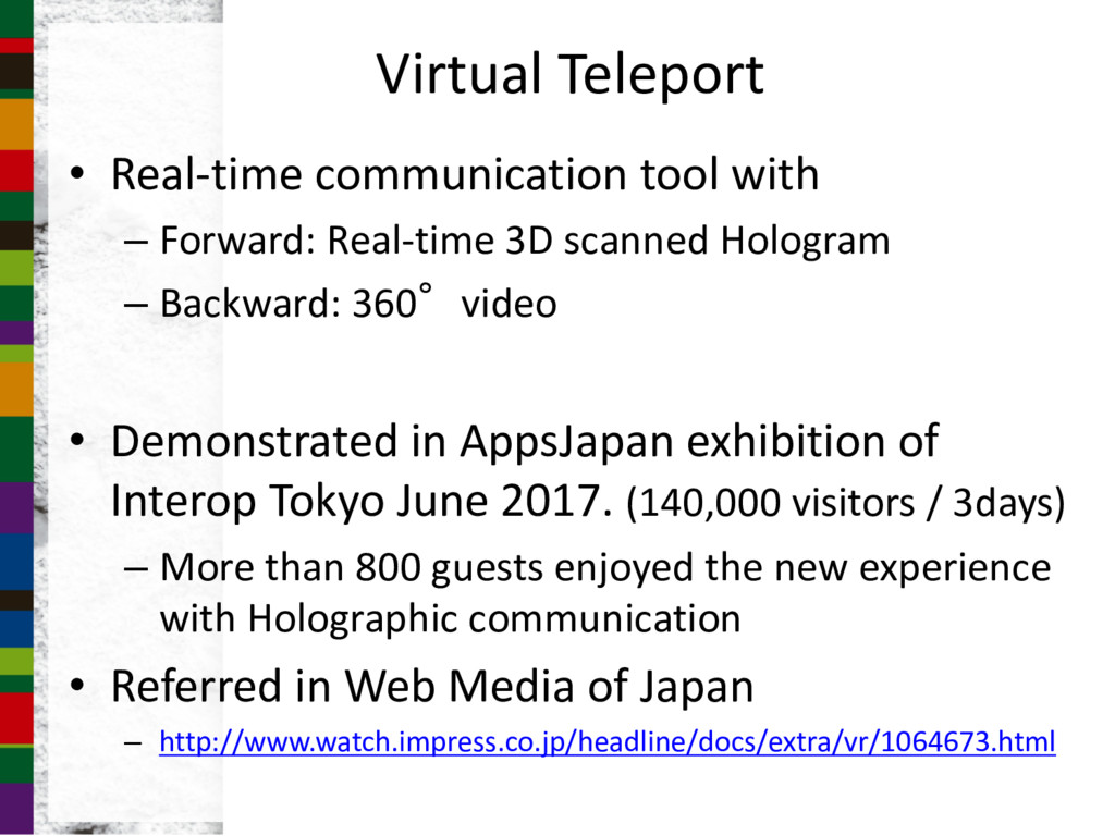 Virtual Teleport • Real-time communication tool...