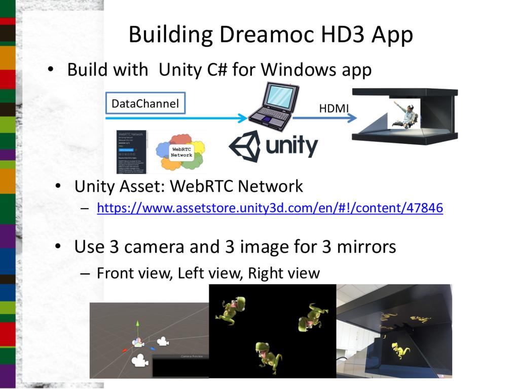 Building Dreamoc HD3 App • Build with Unity C# ...