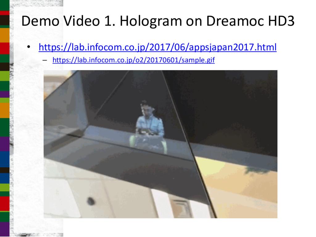 Demo Video 1. Hologram on Dreamoc HD3 • https:/...