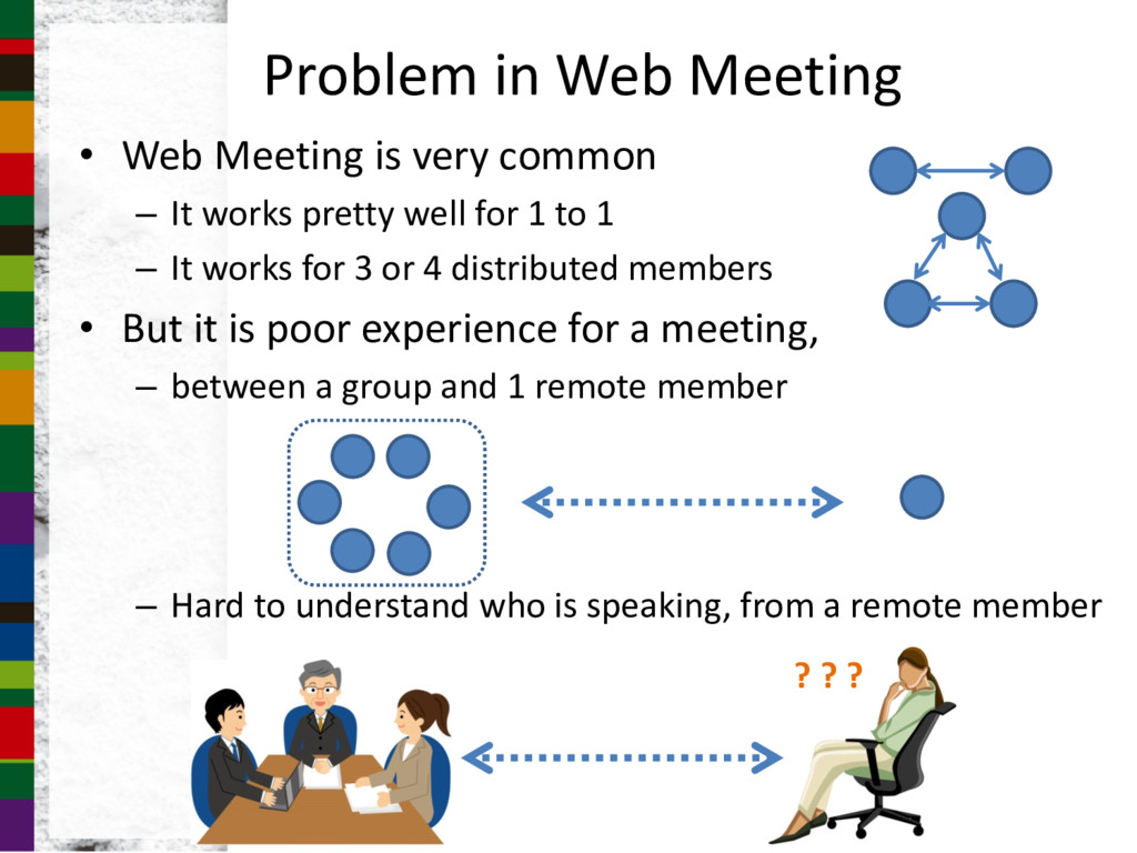 Problem in Web Meeting • Web Meeting is very co...