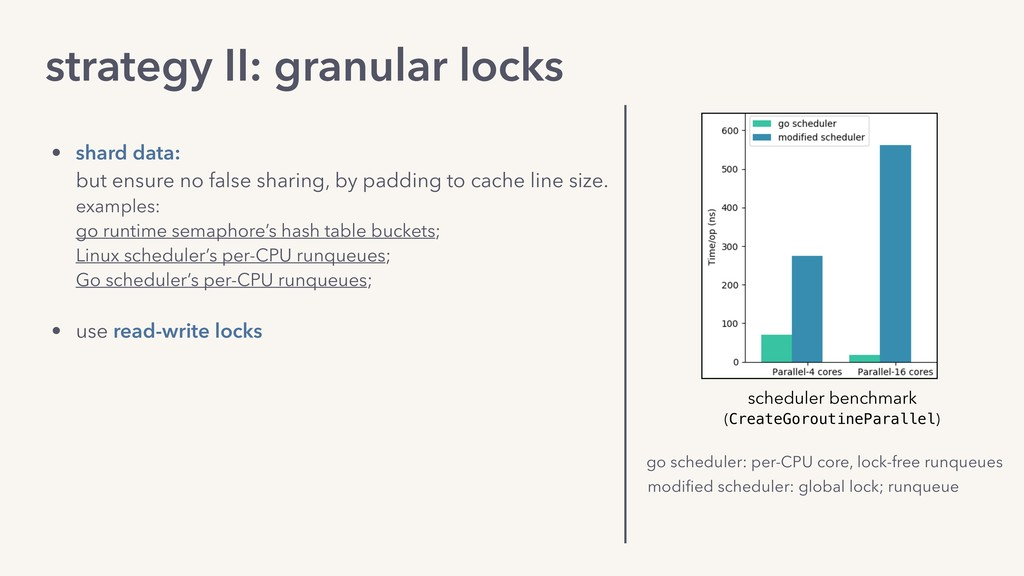 strategy II: granular locks • shard data: