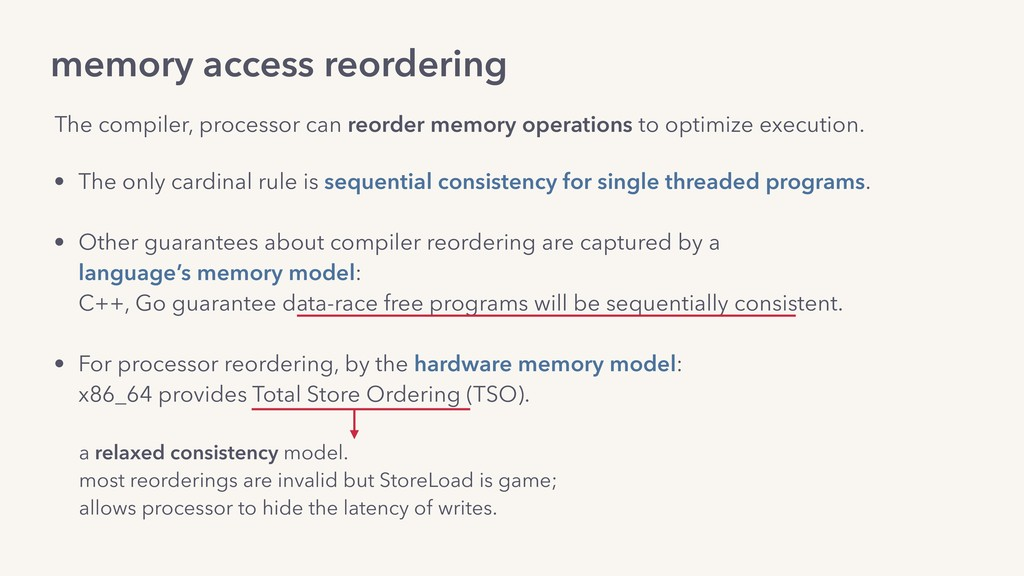 memory access reordering The compiler, processo...