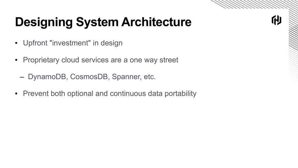 "Designing System Architecture ▪ Upfront ""invest..."