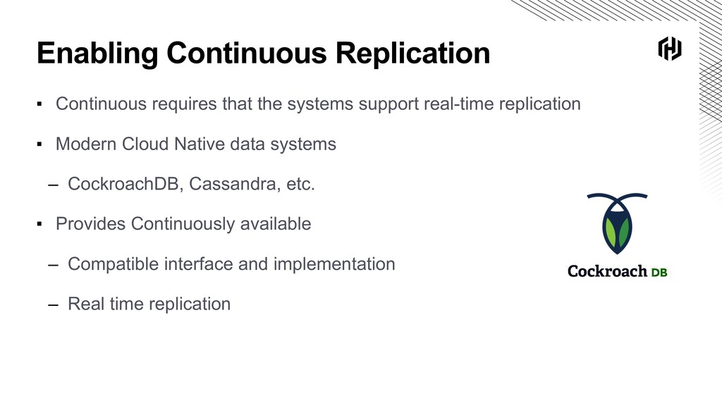 Enabling Continuous Replication ▪ Continuous re...