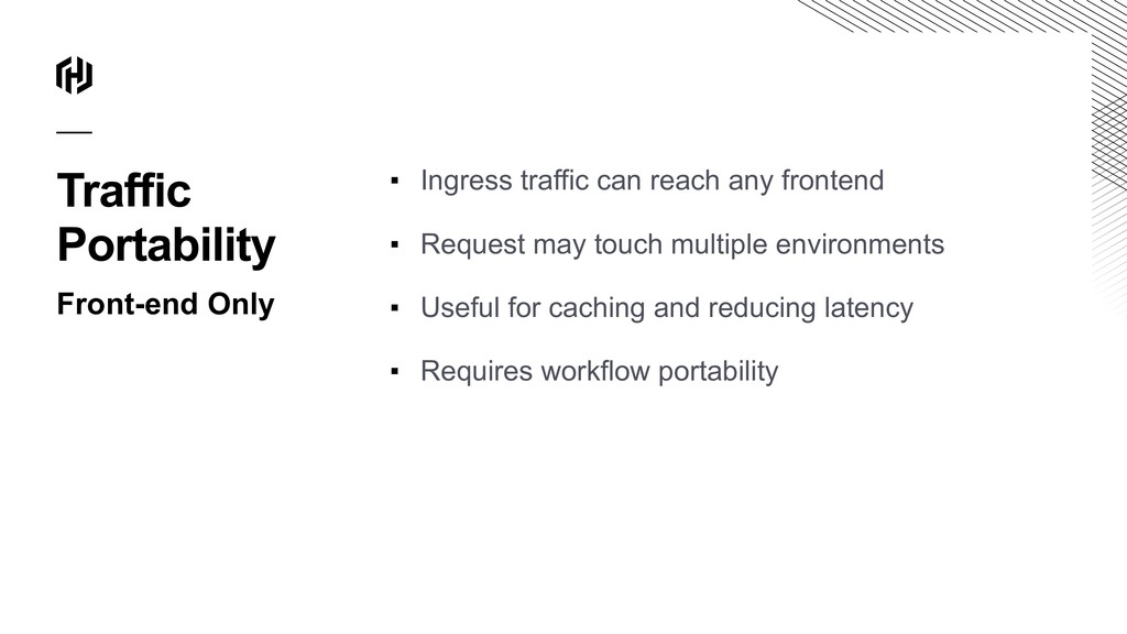 Traffic Portability Front-end Only ▪ Ingress tr...