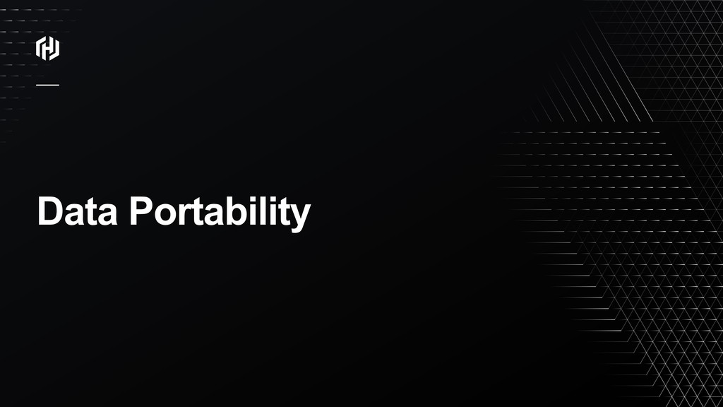 ⁄ Data Portability