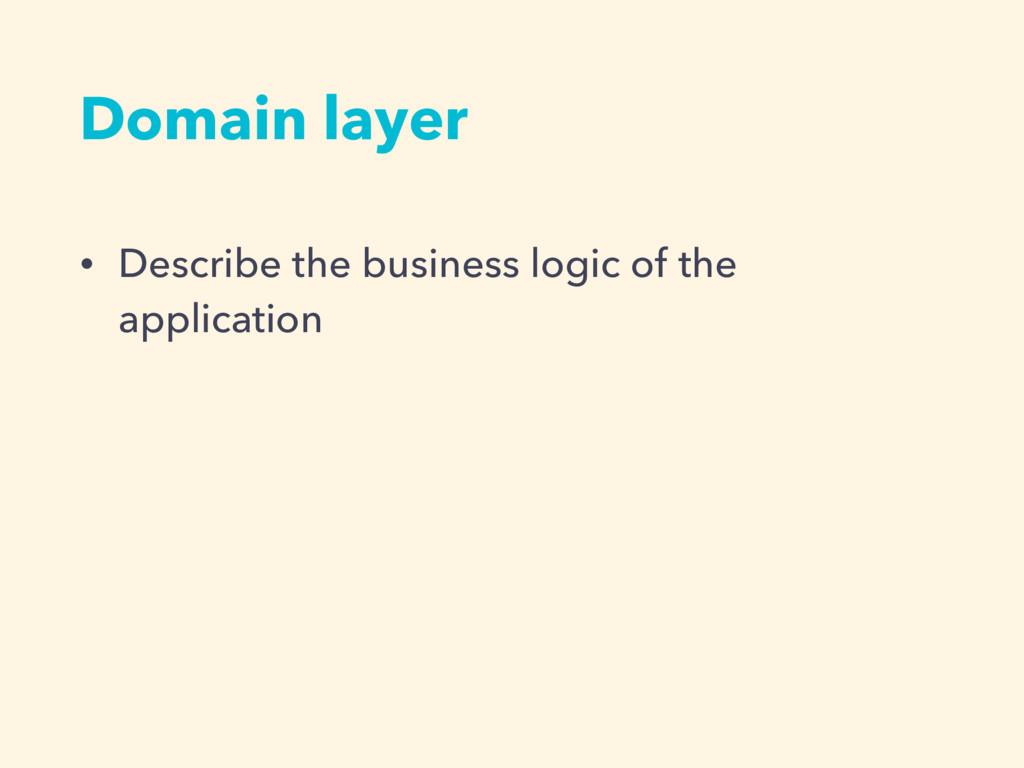 • Describe the business logic of the applicatio...