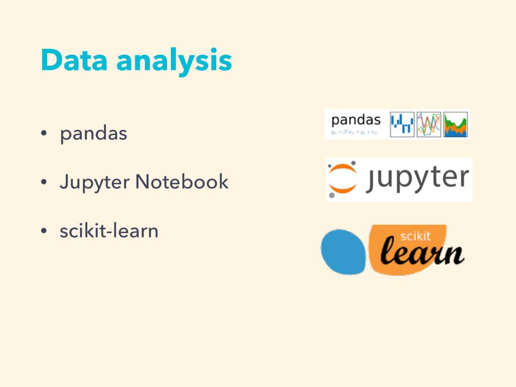 • pandas • Jupyter Notebook • scikit-learn Data...