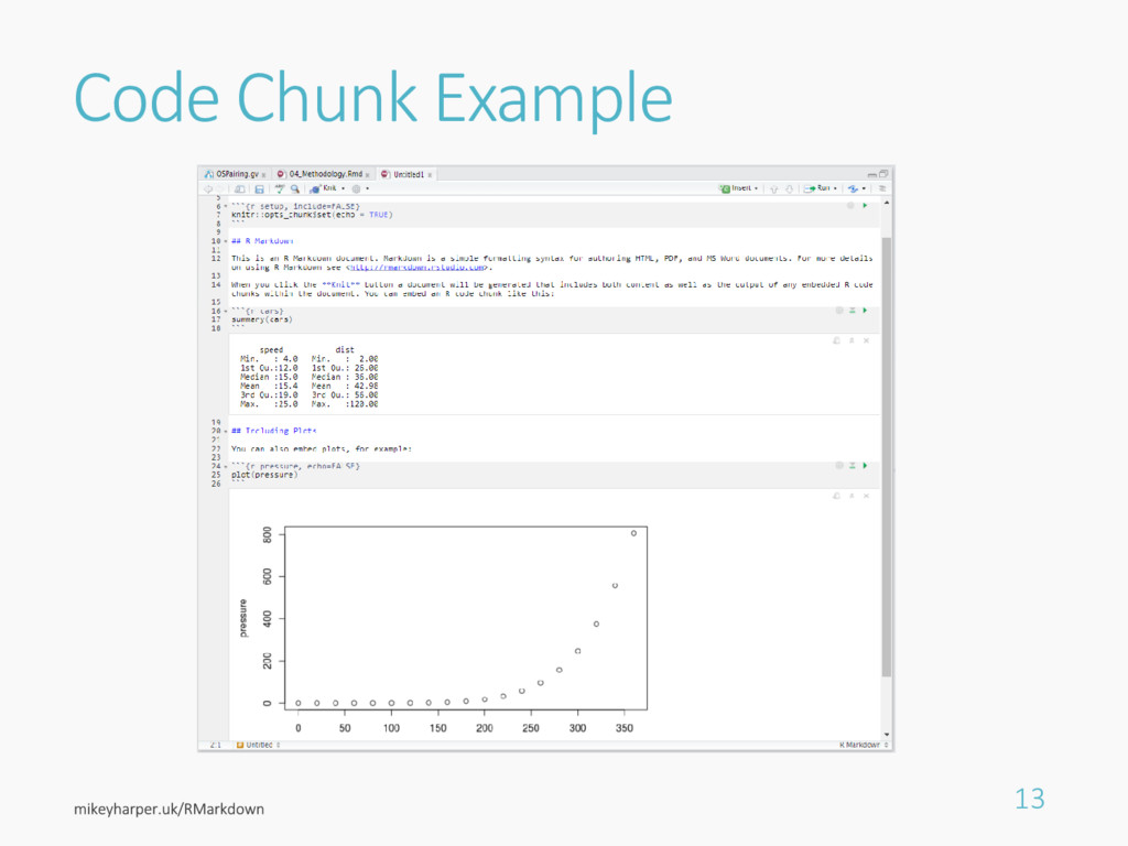 Code Chunk Example 13