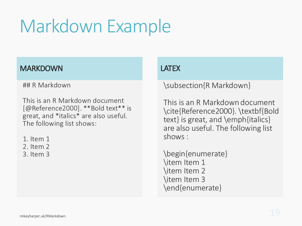 Markdown Example MARKDOWN ## R Markdown This is...