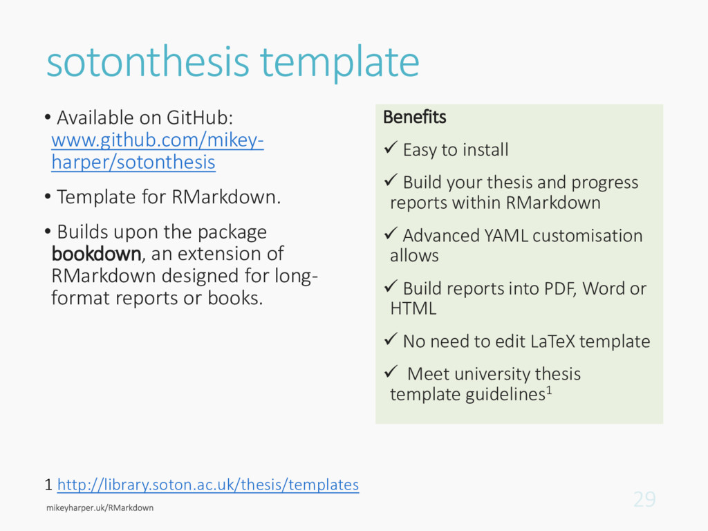 sotonthesis template • Available on GitHub: www...