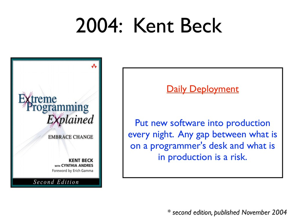2004: Kent Beck * second edition, published Nov...