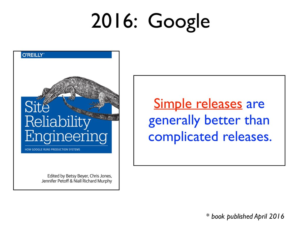 Simple releases are generally better than compl...