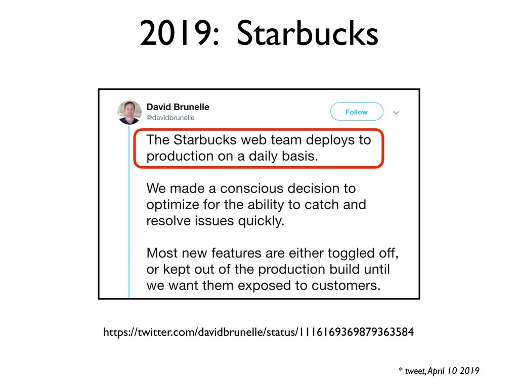 2019: Starbucks * tweet, April 10 2019 https://...