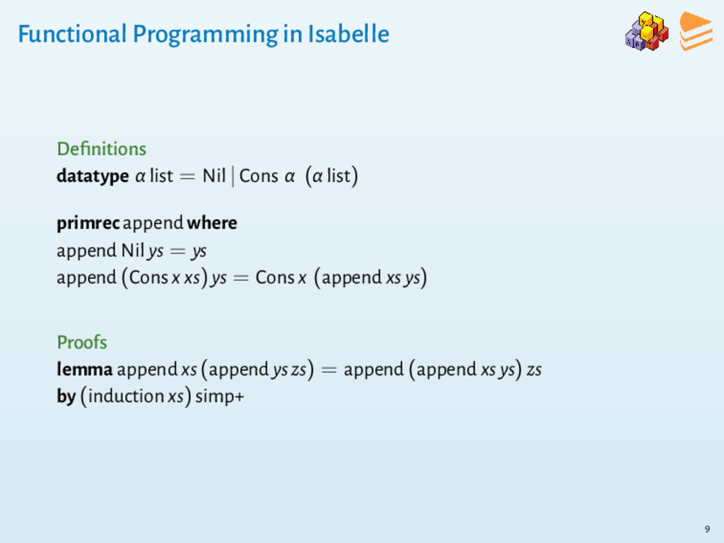 Functional Programming in Isabelle Definitions d...