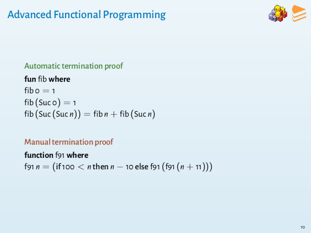 Advanced Functional Programming Automatic termi...