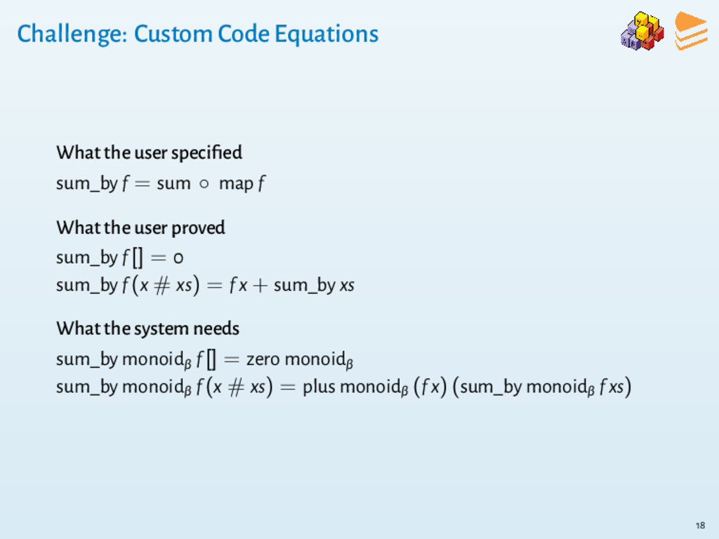 Challenge: Custom Code Equations What the user ...