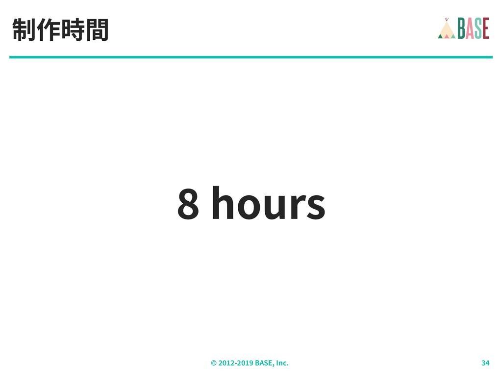 © - BASE, Inc. hours 制作時間