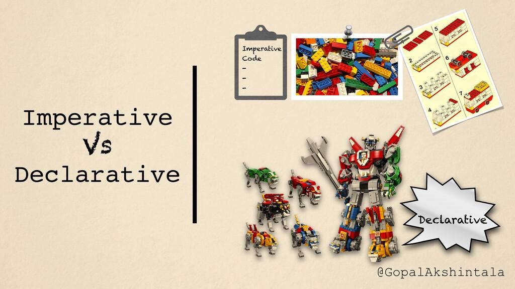 Declarative Imperative Code - - - Imperative Vs...
