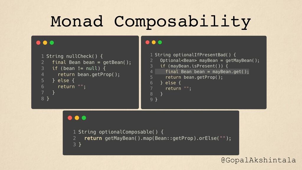Monad Composability @GopalAkshintala