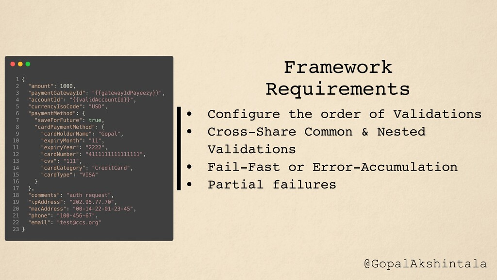 • Configure the order of Validations • Cross-Sh...