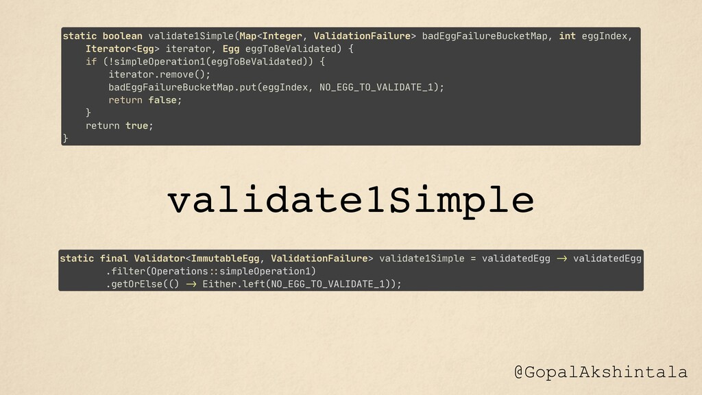 @GopalAkshintala static boolean validate1Simple...