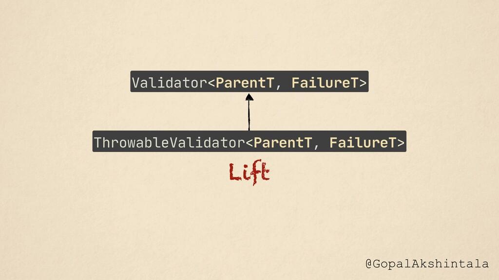 @GopalAkshintala Lift ThrowableValidator<Parent...