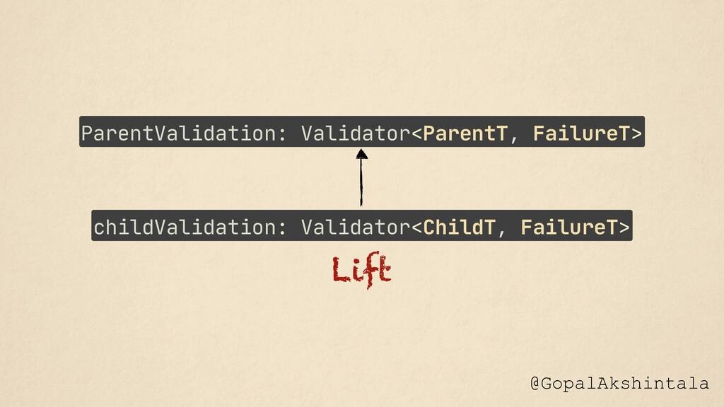@GopalAkshintala Lift childValidation: Validato...