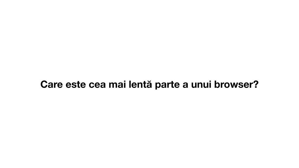 Care este cea mai lentă parte a unui browser?