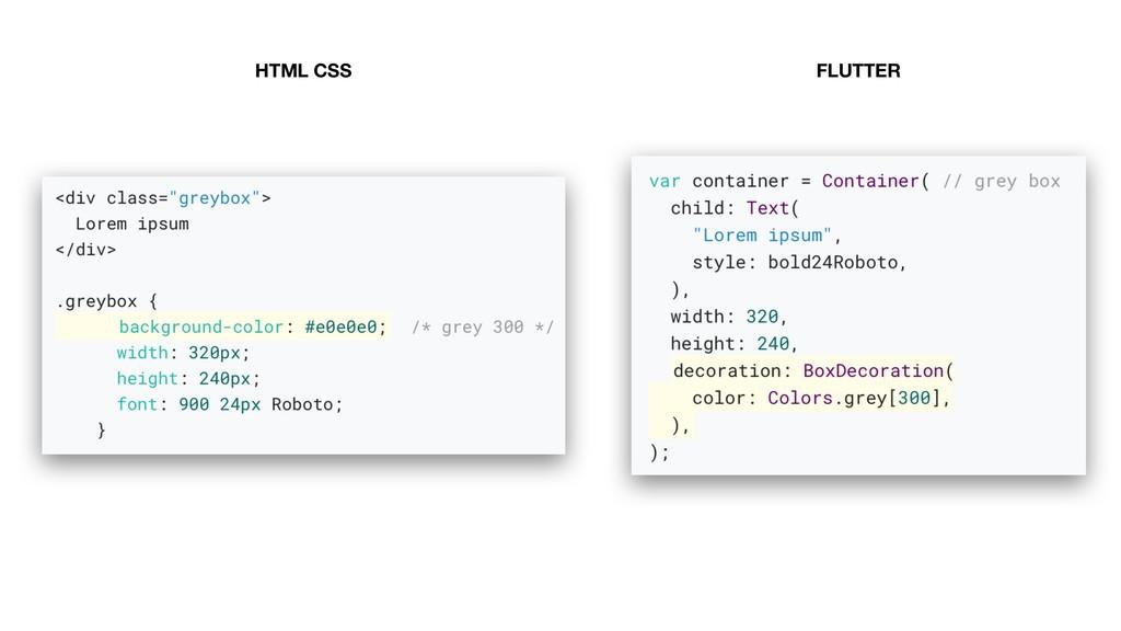HTML CSS FLUTTER