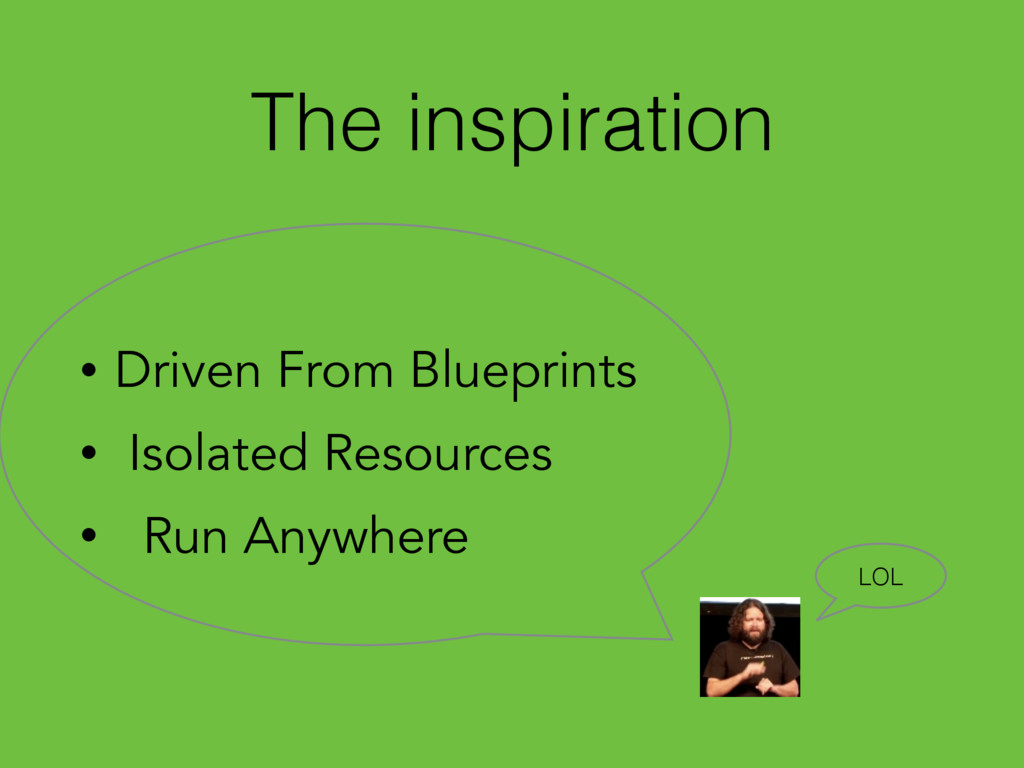 The inspiration • Driven From Blueprints • Isol...