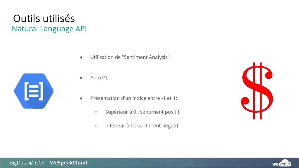 "● Utilisation de ""Sentiment Analysis"". ● AutoML..."