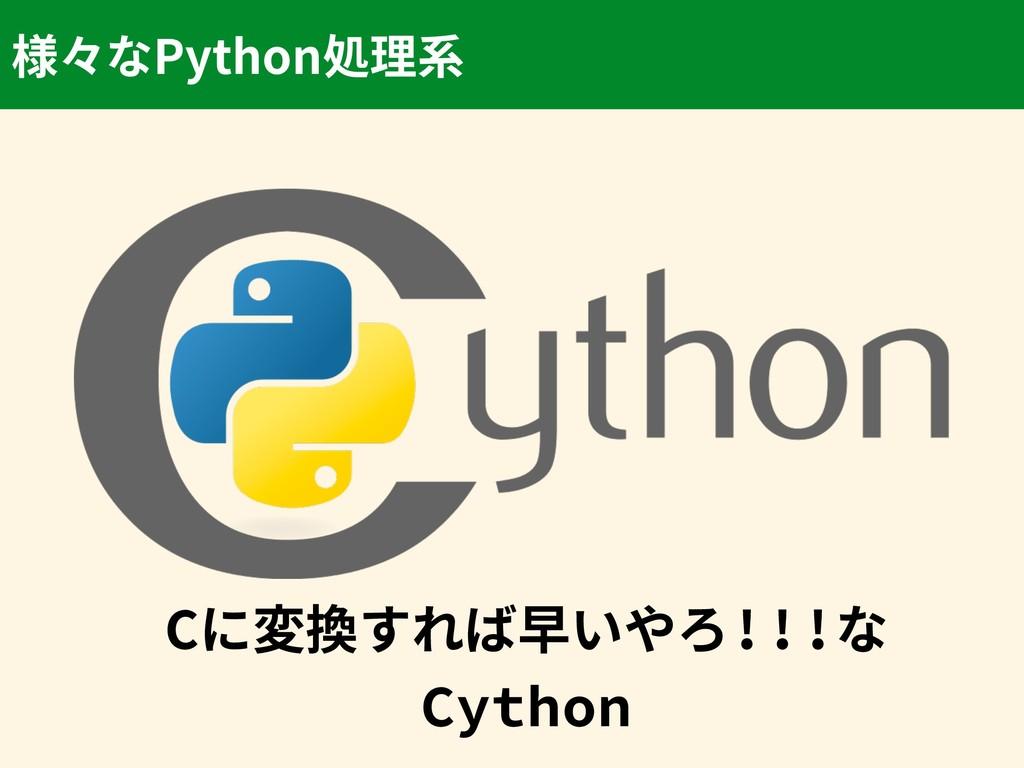 Cに変換すれば早いやろ!!!な Cython Python