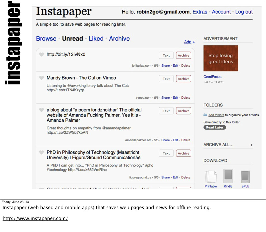 instapaper Friday, June 28, 13 Instapaper (web ...
