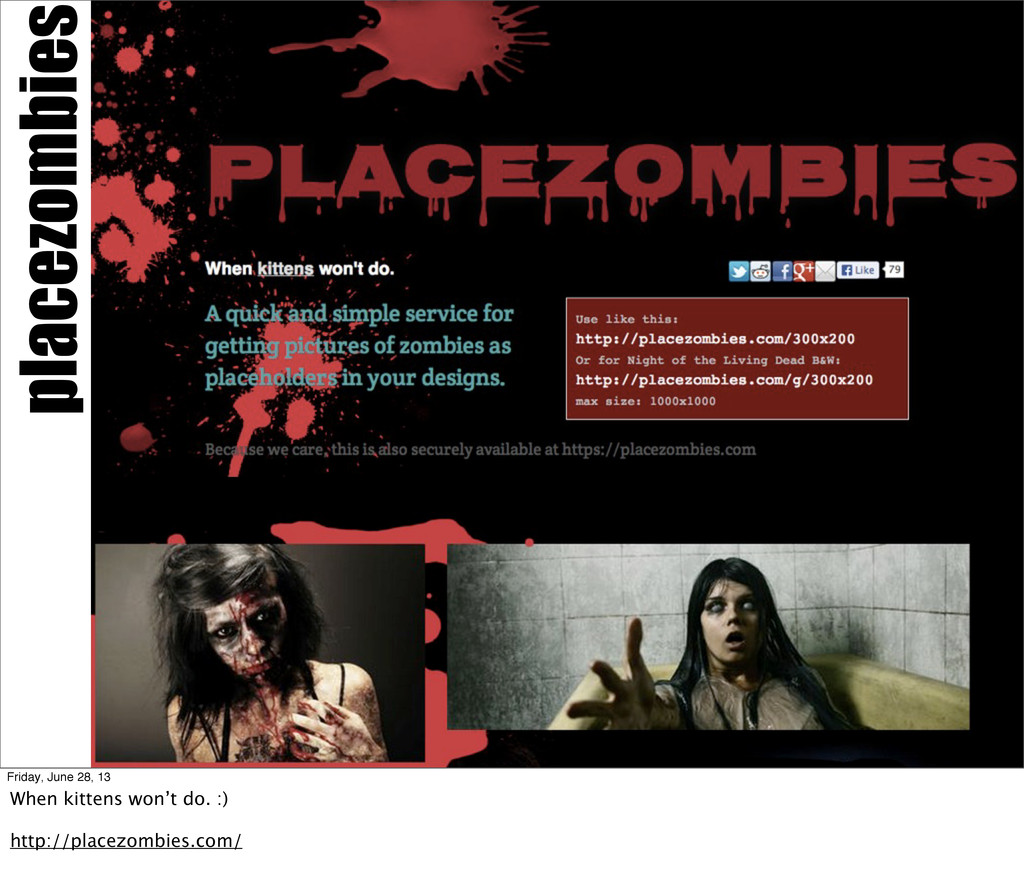 placezombies Friday, June 28, 13 When kittens w...