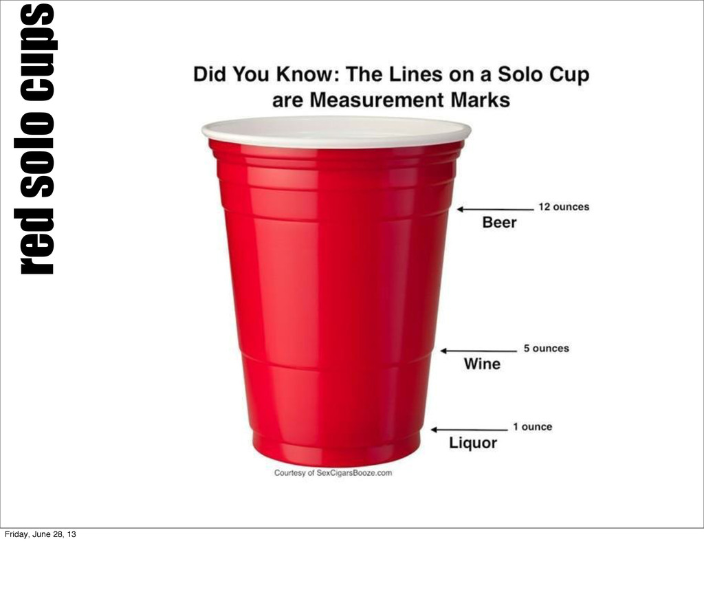 red solo cups Friday, June 28, 13