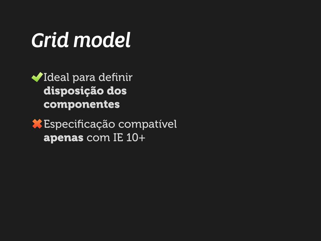 Grid model Ideal para definir disposição dos com...