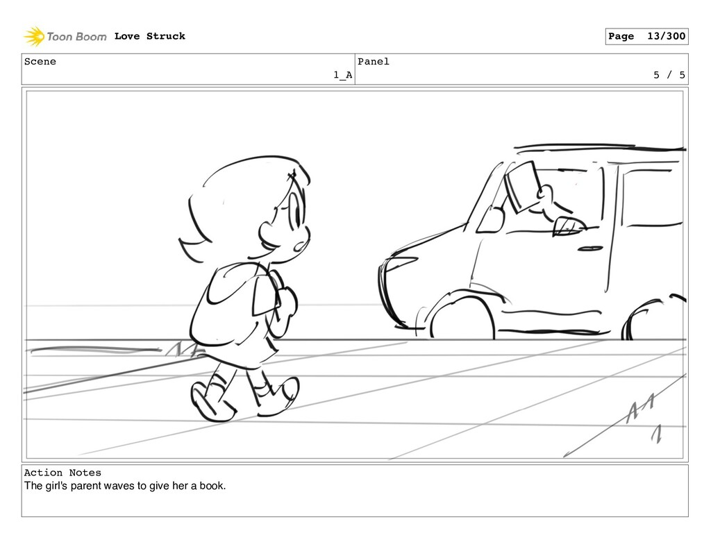 Scene 1_A Panel 5 / 5 Action Notes The girl's p...