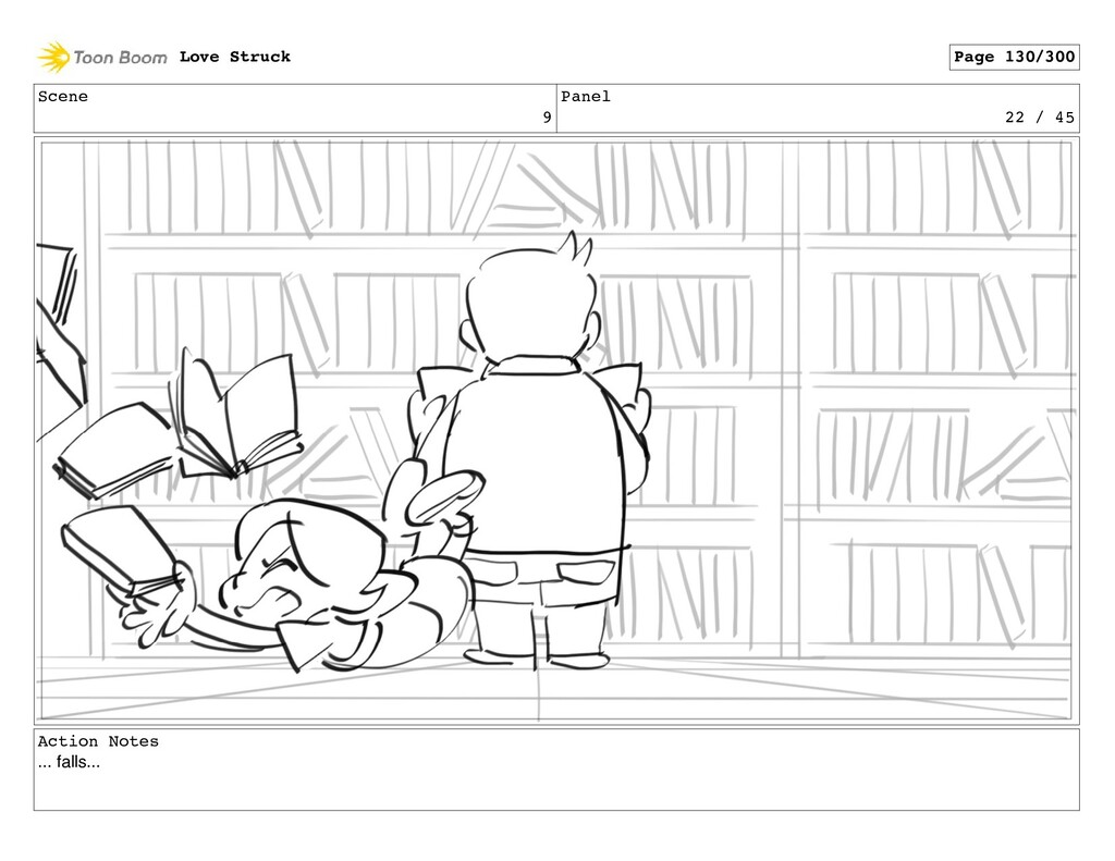 Scene 9 Panel 22 / 45 Action Notes ... falls......