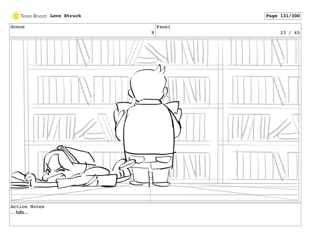 Scene 9 Panel 23 / 45 Action Notes ... falls......