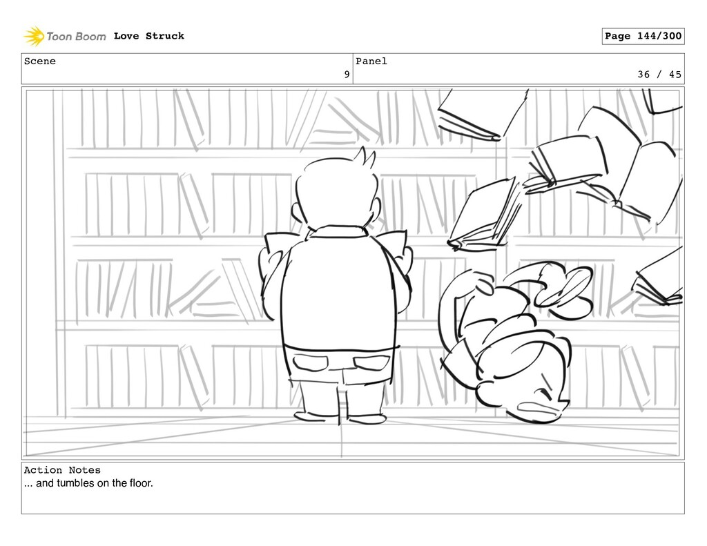 Scene 9 Panel 36 / 45 Action Notes ... and tumb...