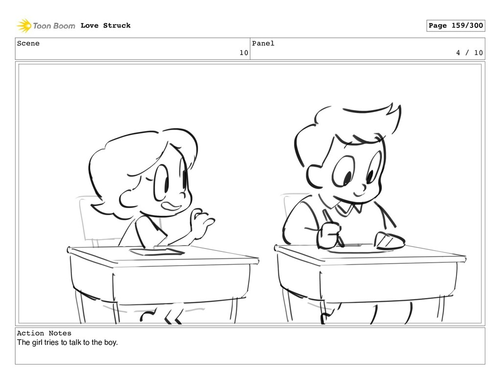 Scene 10 Panel 4 / 10 Action Notes The girl tri...
