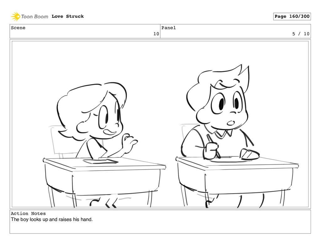 Scene 10 Panel 5 / 10 Action Notes The boy look...