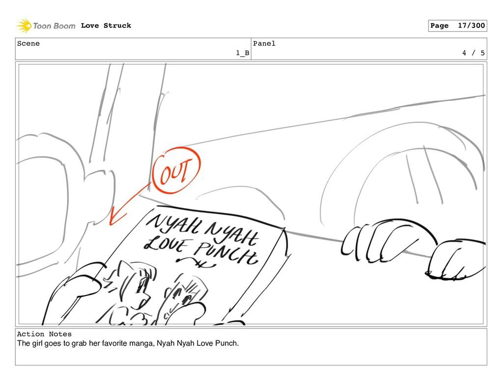 Scene 1_B Panel 4 / 5 Action Notes The girl goe...