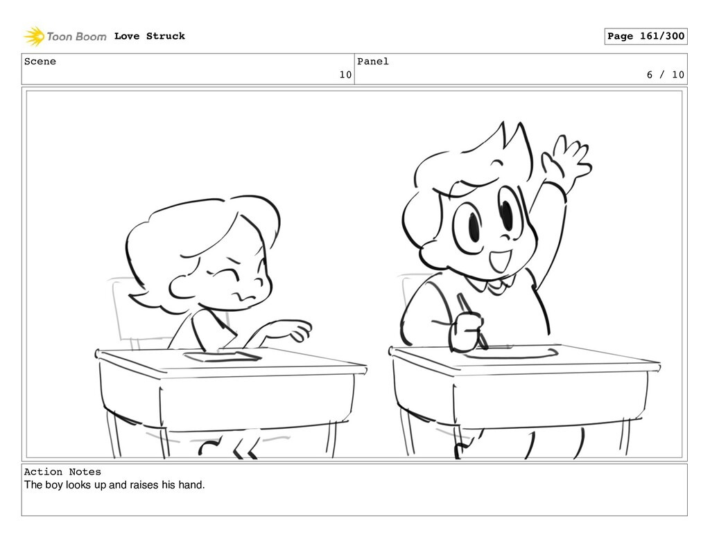 Scene 10 Panel 6 / 10 Action Notes The boy look...