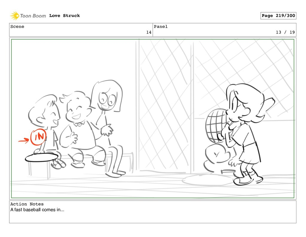 Scene 14 Panel 13 / 19 Action Notes A fast base...