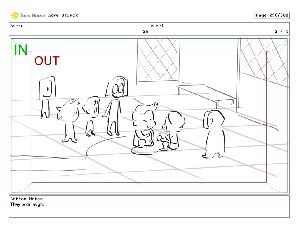 Scene 25 Panel 2 / 4 Action Notes They both lau...